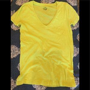 J. Crew, NWOT, New,  cotton slub t shirt, yellow